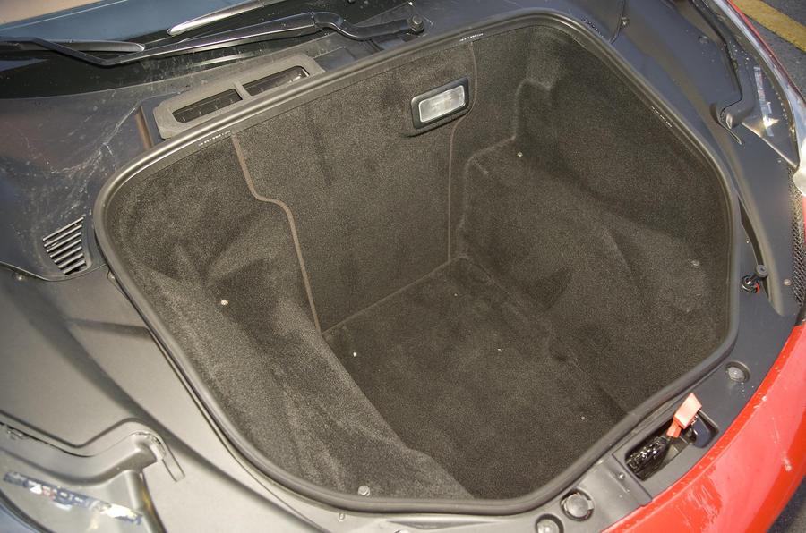 Ferrari 458 Italia boot space