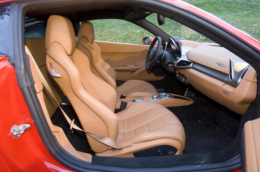 Ferrari 458 Italia front seats