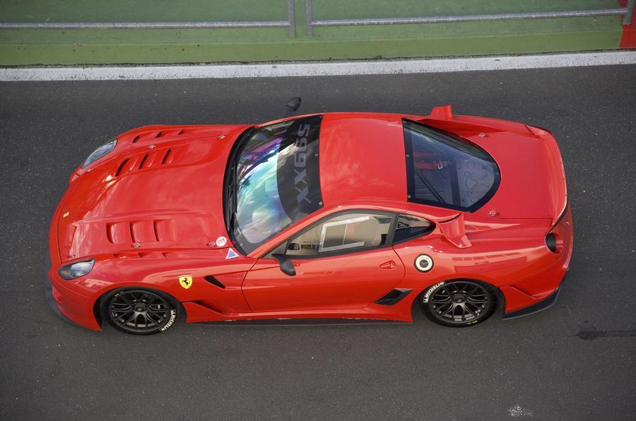 Ferrari 599XX top profile