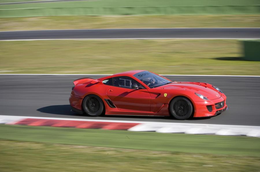 Ferrari 599XX on track