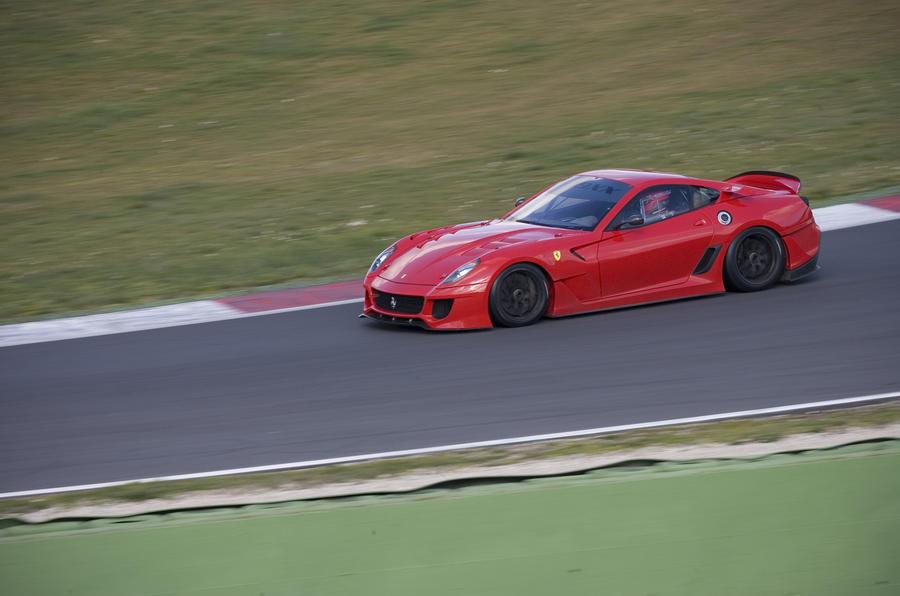 Ferrari 599XX cornering
