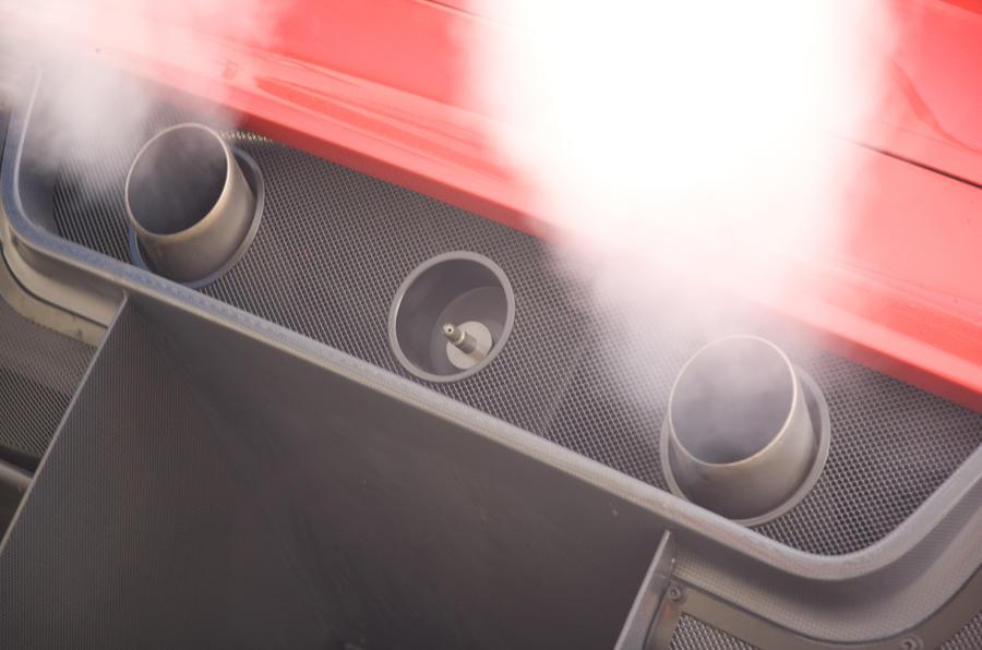 Ferrari 599XX twin exhausts