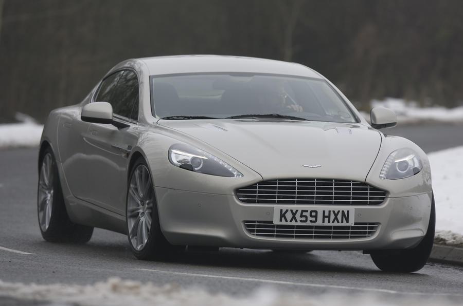 Aston Martin Rapide hard cornering