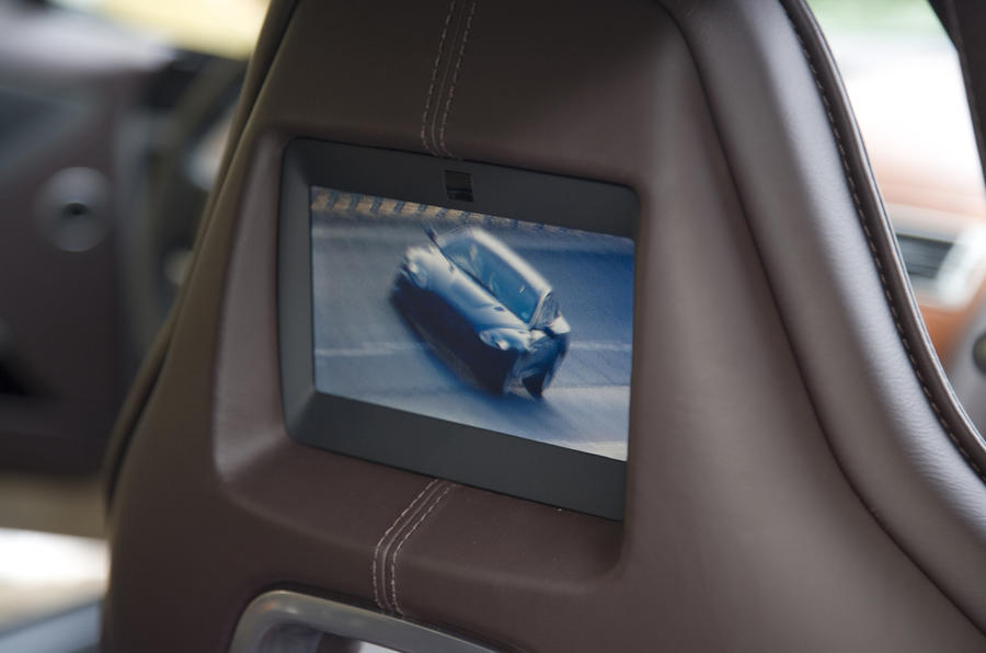 Aston Martin Rapide TV screens