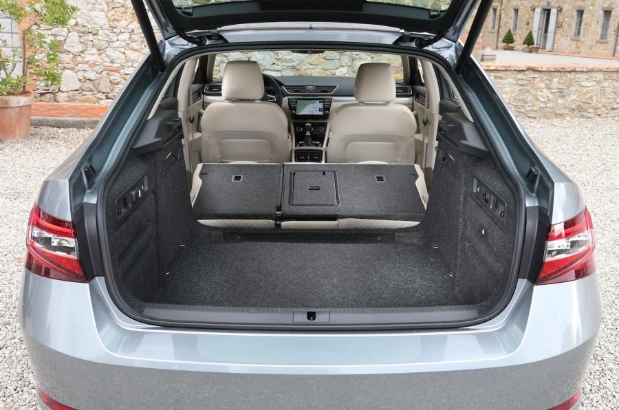 Skoda Superb seats folded down