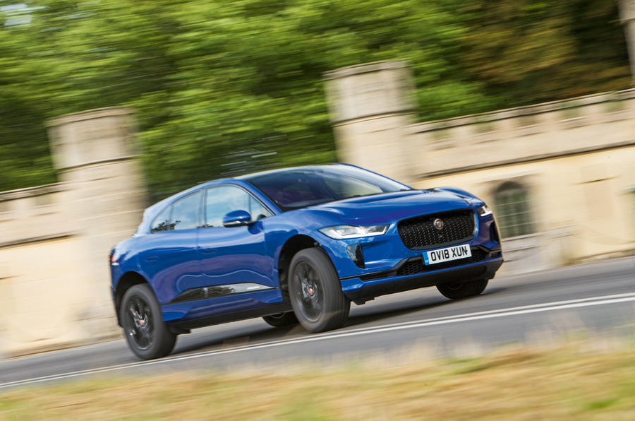 Jaguar I-Pace 2018 road test review cornering front