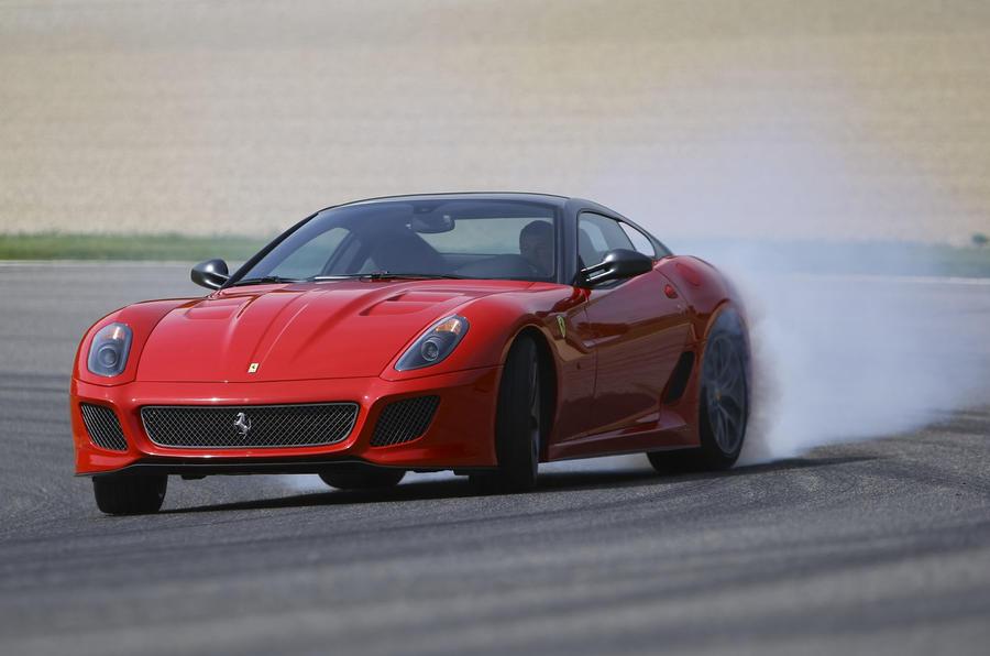 Ferrari 599 GTO hard drifting