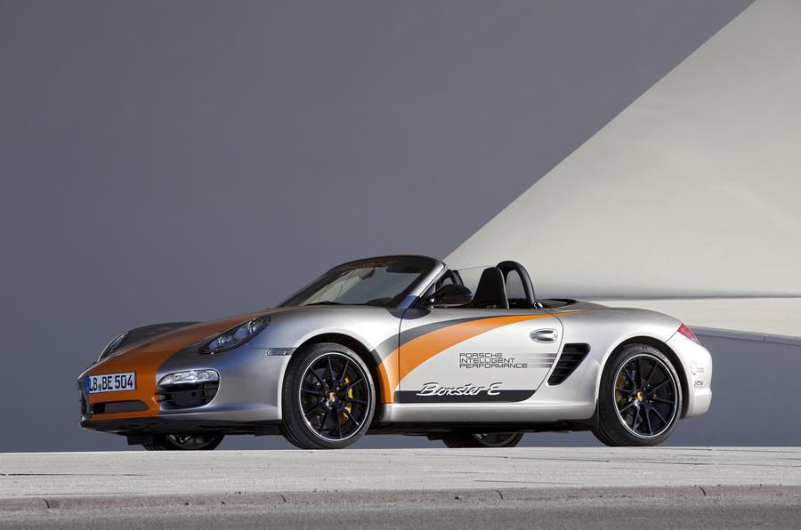 Porsche Boxster E roof down