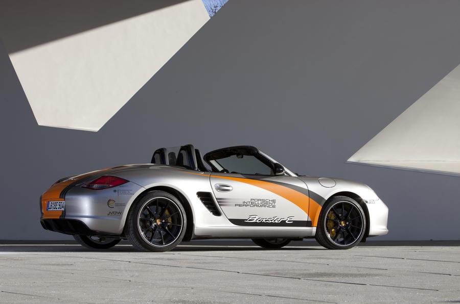 Porsche Boxster E rear end