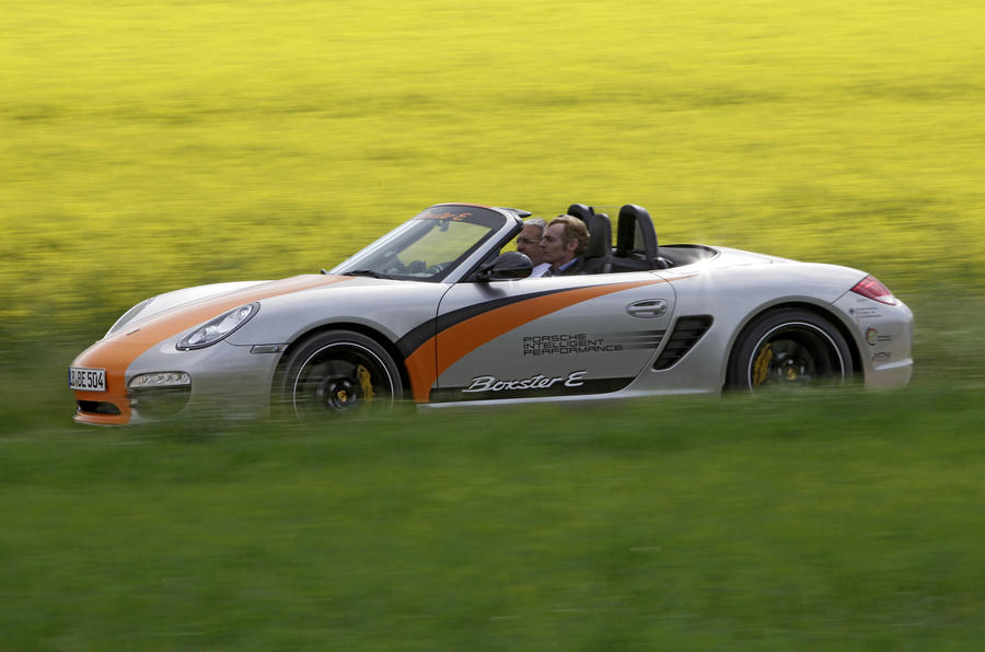 Porsche Boxster E side profile