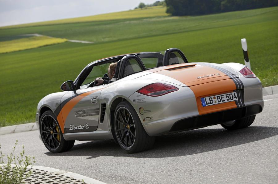 Porsche Boxster E rear