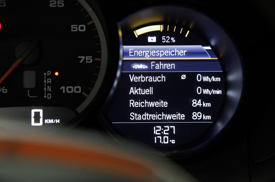 Porsche Boxster E information screen