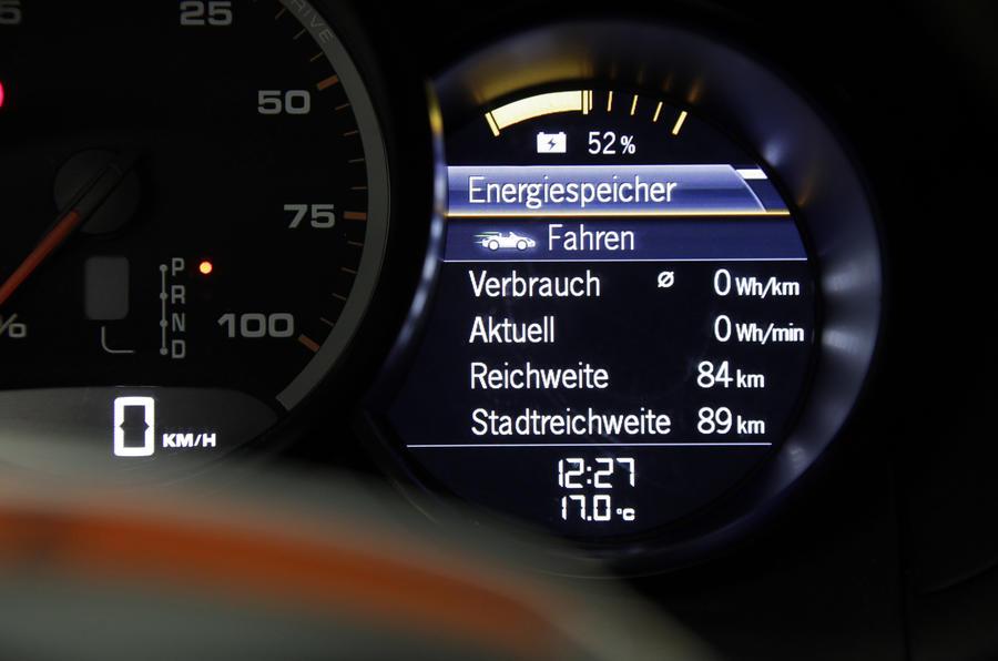 Porsche Boxster E information screen