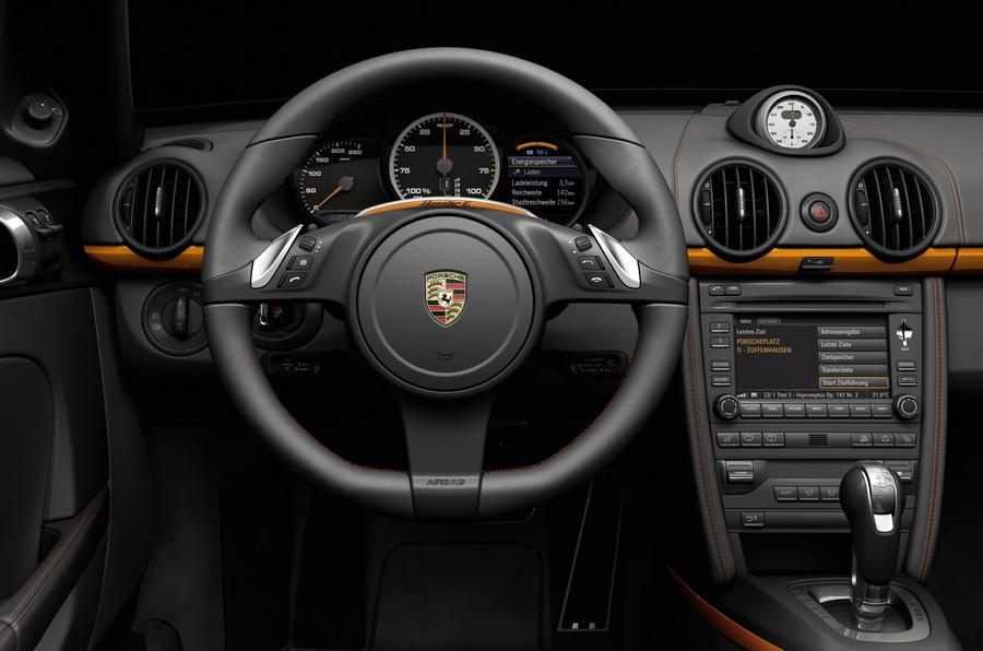Porsche Boxster E dashboard