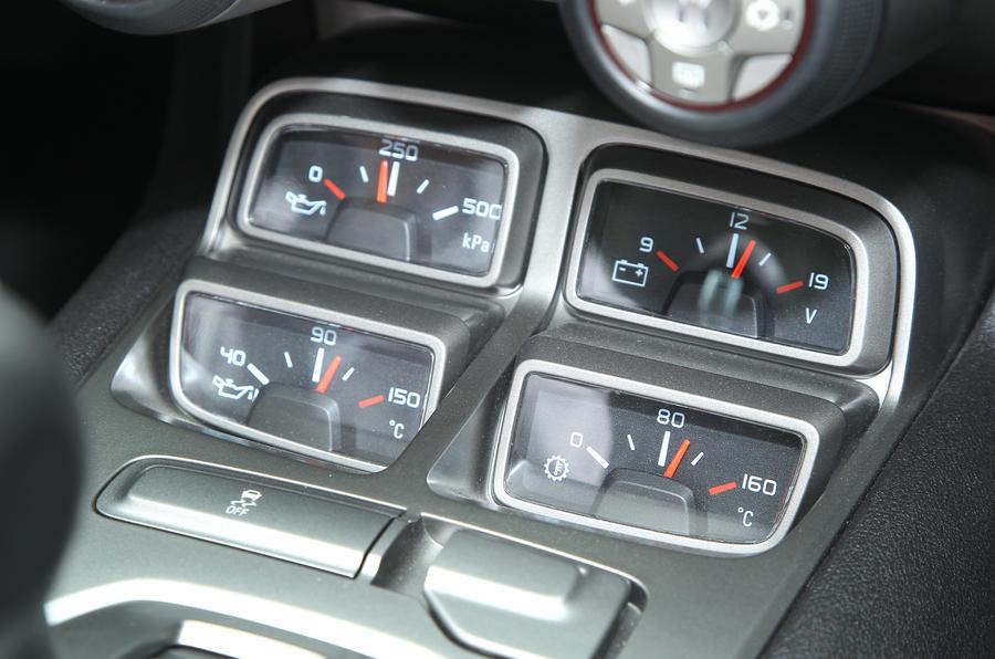 Chevrolet Camaro Convertible instrument cluster