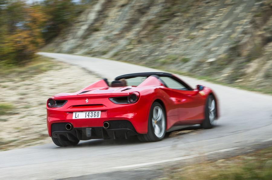 Ferrari 488 Spider rear cornering