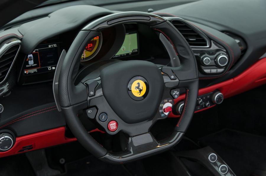 Ferrari 488 Spider steering wheel