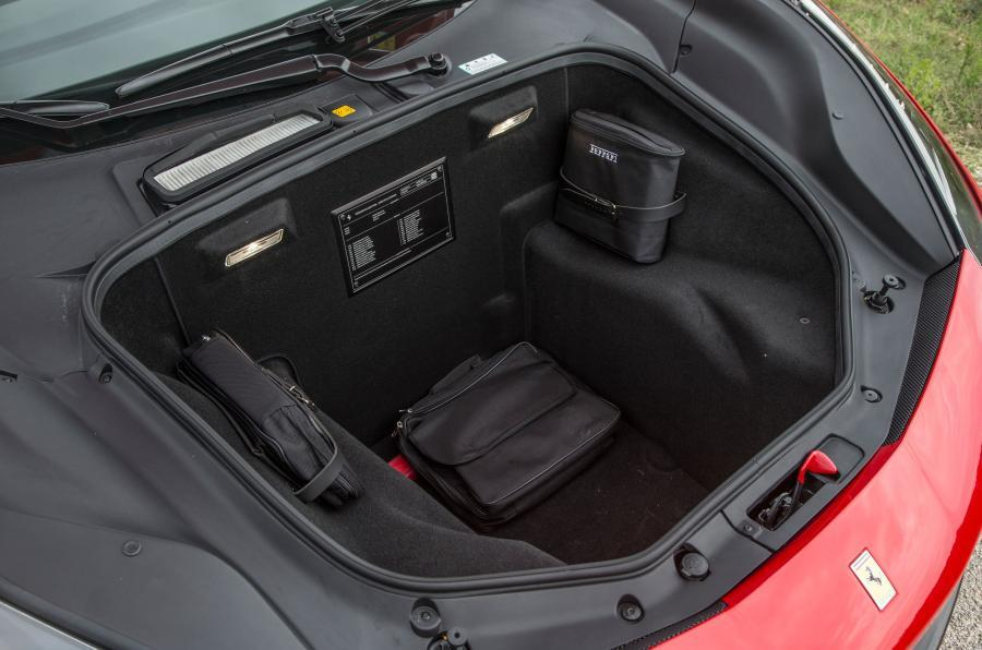Ferrari 488 Spider boot space