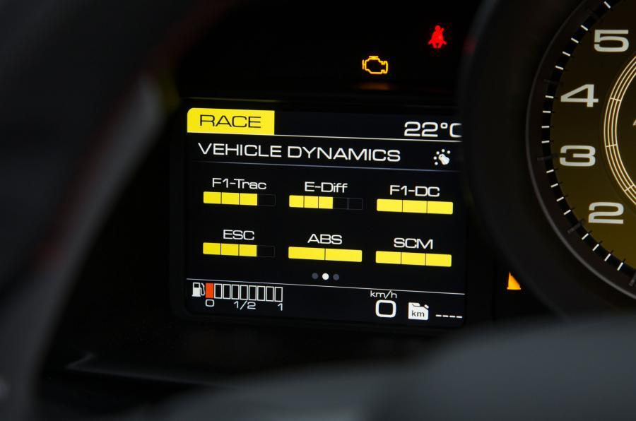 Ferrari 488 Spider information screen