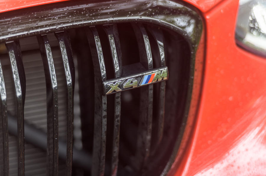 BMW X4 M Competition 2019 road test review - front badge