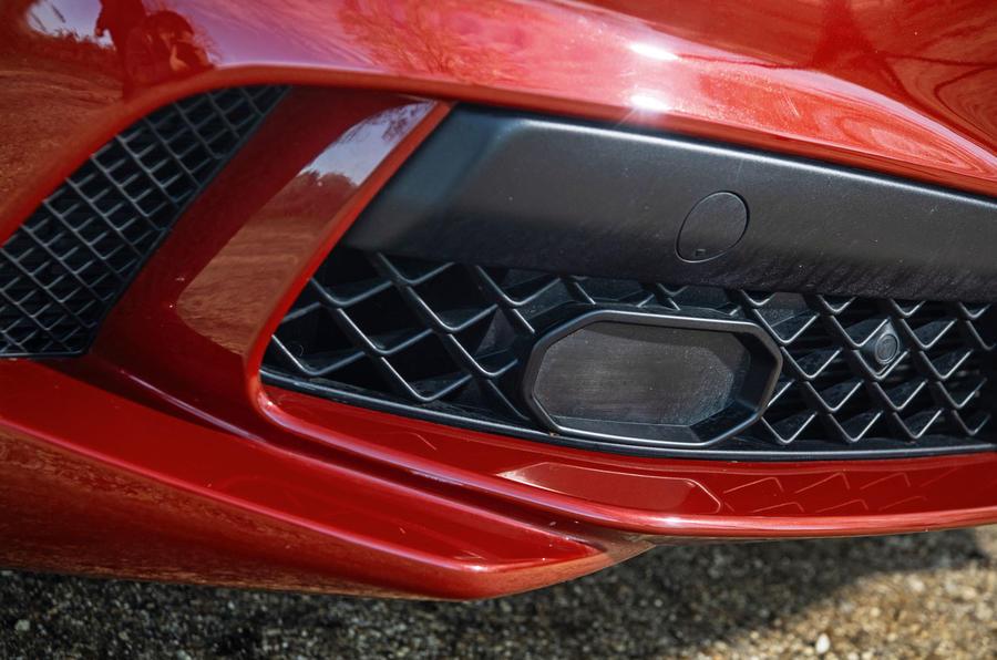 Alfa Romeo Stelvio Quadrifoglio 2019 road test review - front bumper