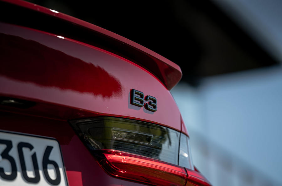 Alpina B3 2020 road test review - rear badge