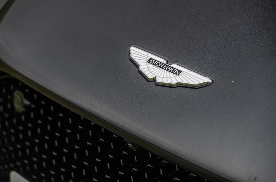 Aston Martin DBS Superleggera 2018 road test review - bonnet badge