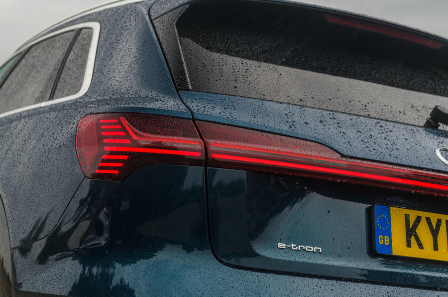 Audi E-tron 55 Quattro 2019 road test review - rear lights