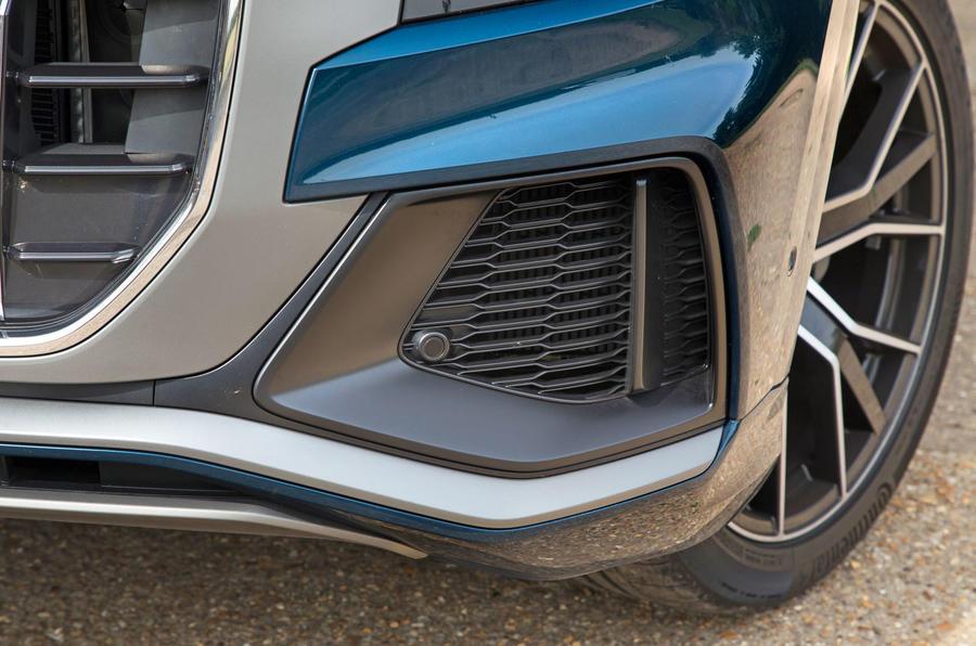Audi Q8 50 TDI Quattro S Line 2018 road test review - front aero