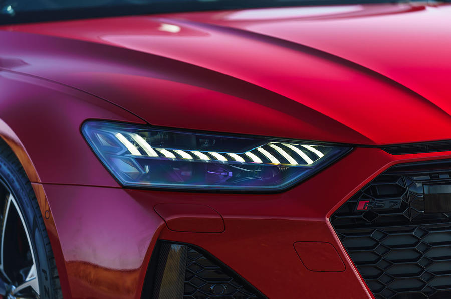 Audi RS7 Sportback 2020 road test review - headlights