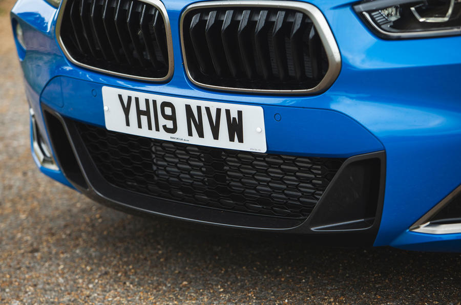 BMW X2 M35i 2019 road test review - front bumper