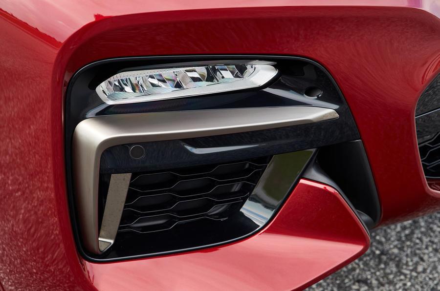 BMW X4 2018 road test review foglights