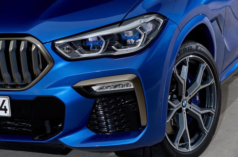 BMW X6 M50i 2019 road test review - front lights