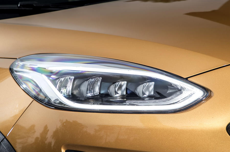 Ford Fiesta Active 2018 road test review headlights