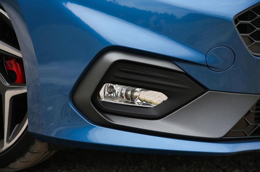 Ford Fiesta ST 2018 road test review foglights