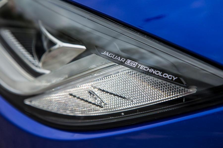 Jaguar I-Pace 2018 road test review headlight detail