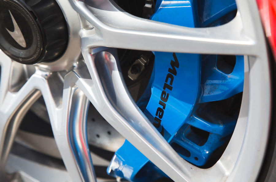 McLaren Senna 2018 road test review - brake calipers