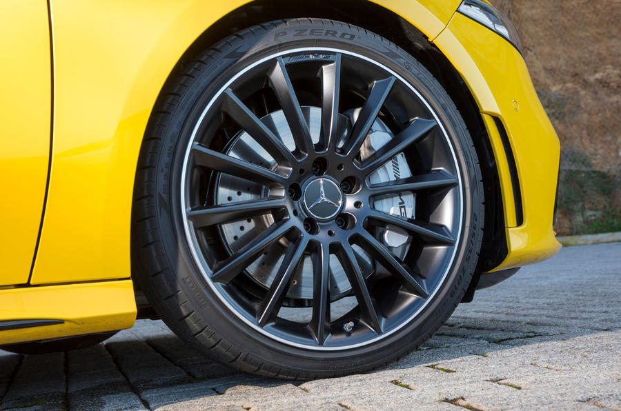 Mercedes-AMG A35 2018 review - alloy wheels