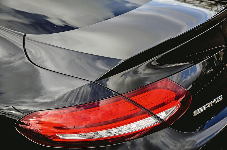 Mercedes-AMG C63 Coupé 2019 road test review - rear spoiler