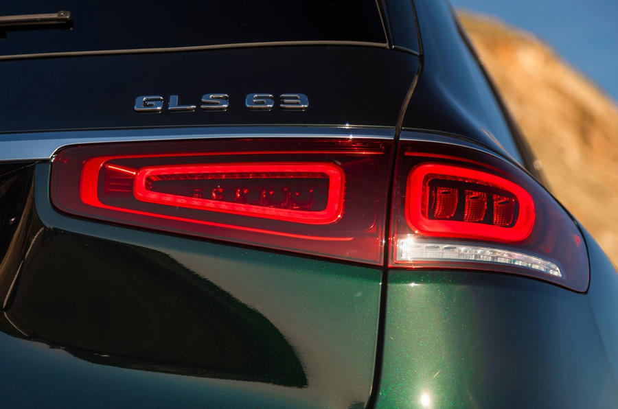 Mercedes-AMG GLS 63 2020 road test review - rear lights