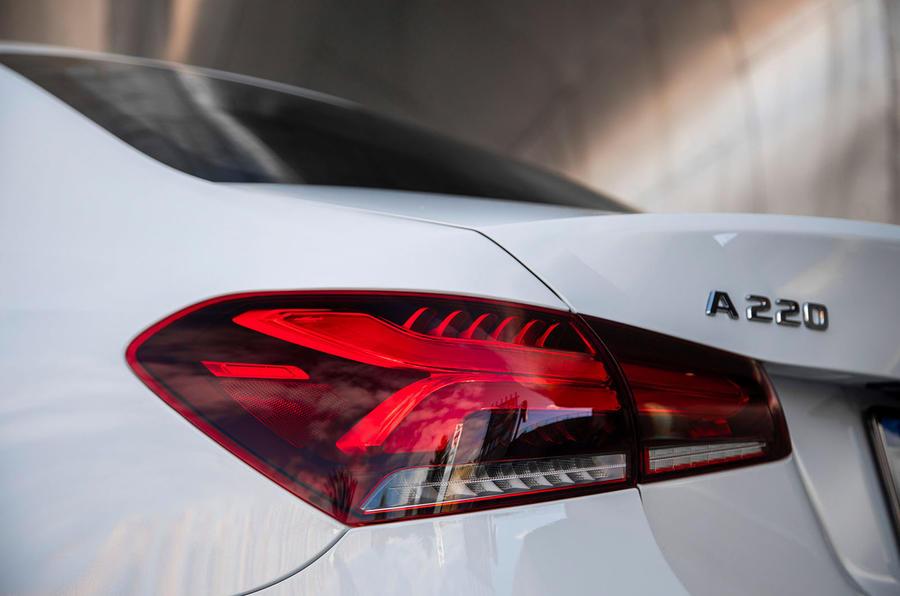 Mercedes-Benz A-Class saloon 2018 review - rear lights