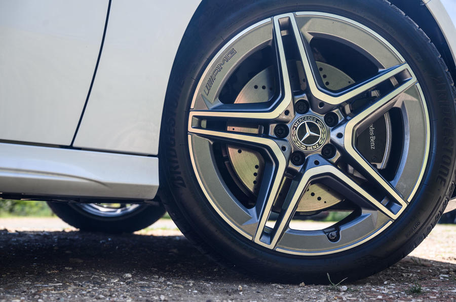 Mercedes-Benz A250e 2020 road test review - alloy wheels