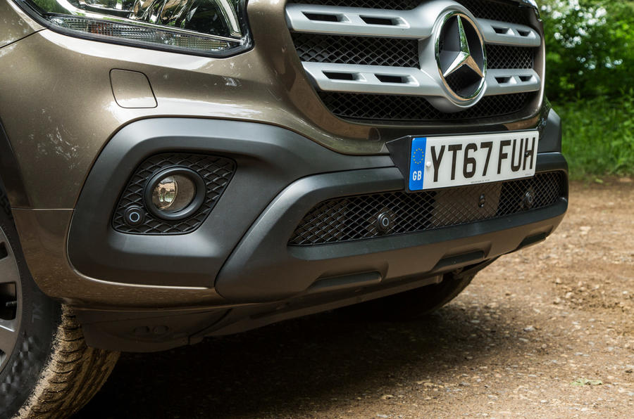 Mercedes-Benz X-Class road test review foglights