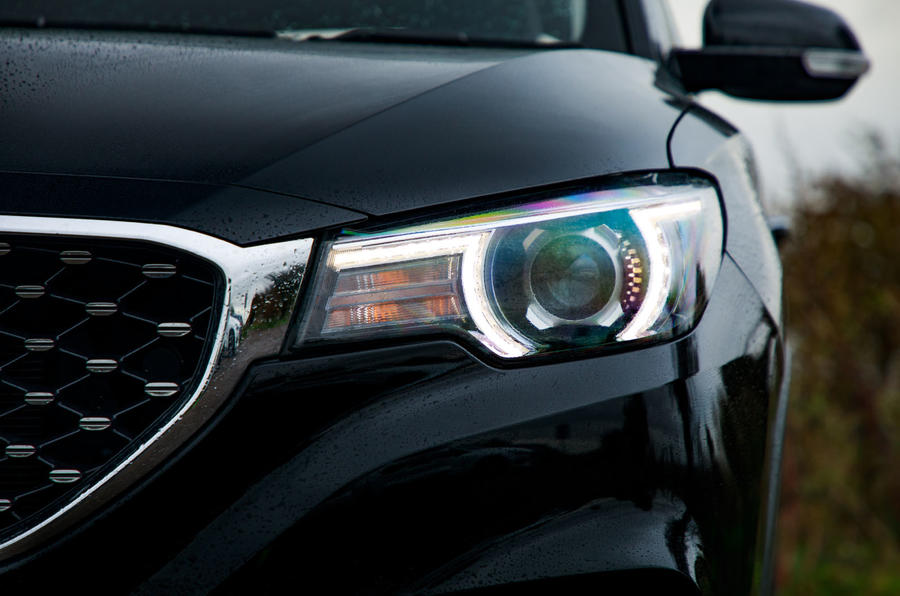 MG ZS EV 2019 road test review - headlights