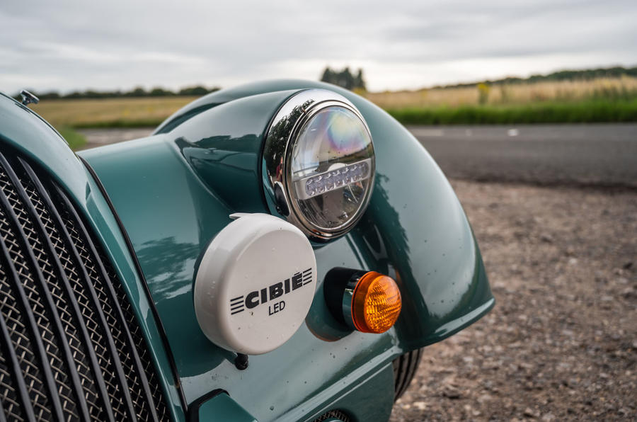 Morgan Plus Four 2020 road test review - front lights