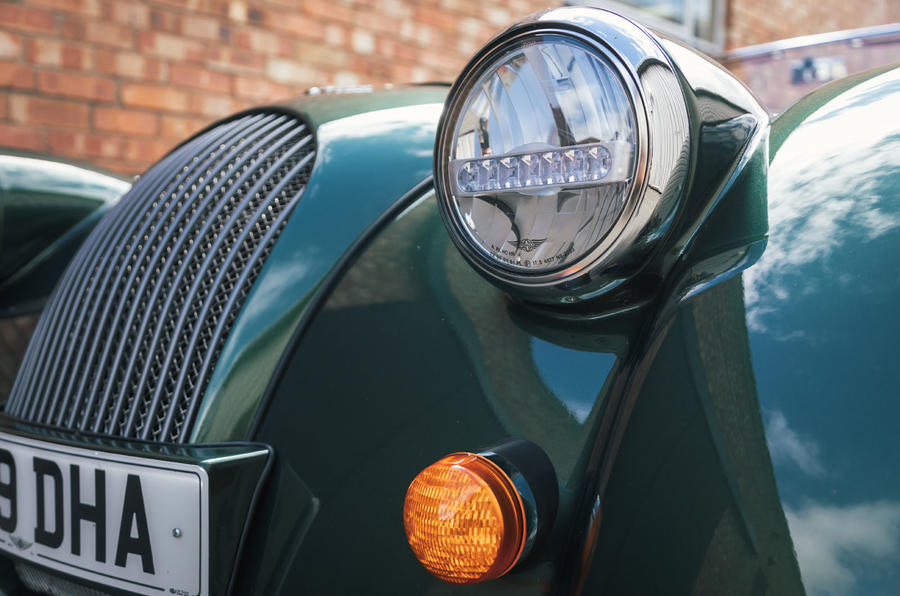 Morgan Plus Six 2019 road test review - headlights