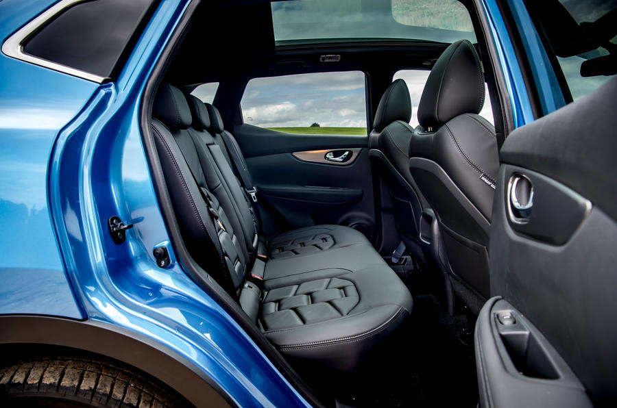 Nissan Qashqai road test review rear seats