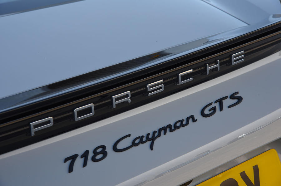 Porsche 718 Cayman GTS 2018 review badges