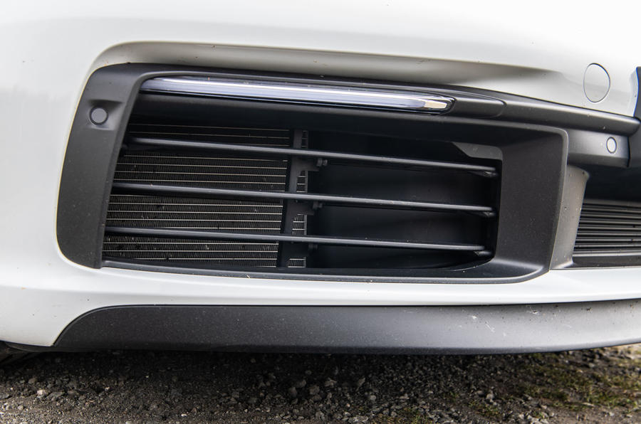 Porsche 911 Carrera S 2019 road test review - front bumper