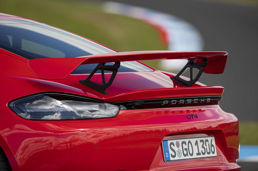 Porsche 718 Cayman GT4 2019 road test review - spoiler